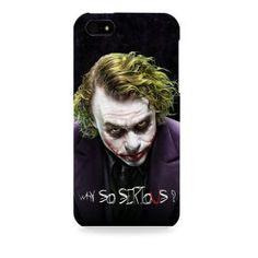 Dark Knight-Batman Joker Why So serious Black Apple I phone 4 & 4S case (Officially Licensed)