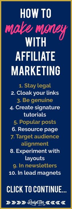 These 10 tips will help you make money with affiliate marketing. Get more passive income for your online business! << Raelyn Tan Great tips on affiliates marketing available here: Affiliate Marketing, Marketing Website, Marketing Program, Digital Marketing Strategy, Inbound Marketing, Business Marketing, Content Marketing, Online Marketing, Online Business