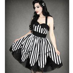Gothic/rockabilly dress, Beetle juice anyone? :D <3
