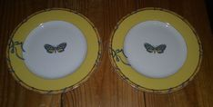 "Lynn Chase Butterfly Bamboo  Bread/Butter Plate 6 1/2"" Set of 2 #LynnChaseDesigns"