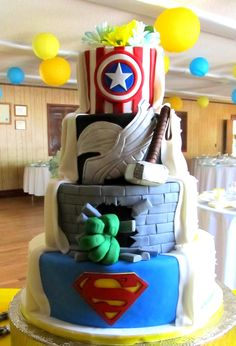 Delicious and creative custom cake and dessert products serving Denver, Colorado and the surrounding areas. Superhero Wedding Cake, Traditional Looks, Custom Cakes, Denver, Colorado, Wedding Cakes, Creative, Desserts, Food