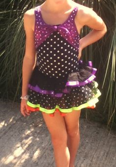 Girls Dance Costume Black Purple Jazz Tap Size Child Small Item 1095 | eBay