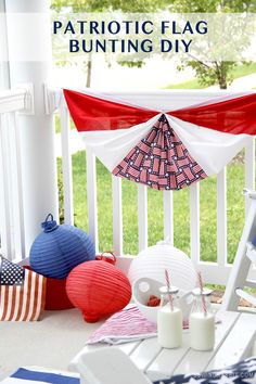 DIY Patriotic Flag Bunting // Memorial Day or Fourth of July Decor // Patriotic DIY Decor