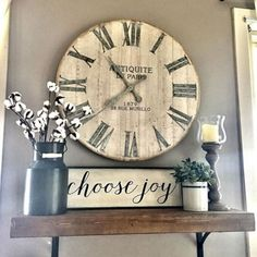 The rustic living room wall decor is certainly extremely attractive and attractive. Right here is a collection of rustic living room wall decor. Farmhouse Wall Decor, Rustic Wall Decor, Rustic Wood, Farmhouse Style, Rustic Farmhouse, Modern Rustic, Rustic Style, Farmhouse Ideas, Farmhouse Clocks