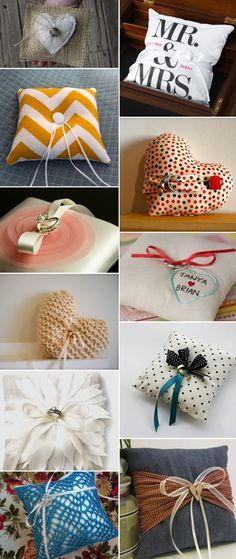 Etsy. Wedding rings pillows