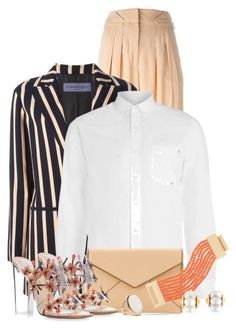 """""""Dramatic Stripes"""" by debpat on Polyvore featuring Emanuel Ungaro, Topman, Rebecca Minkoff, Kenneth Jay Lane and Paul Andrew"""
