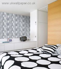Marimekko Wallpaper black & white