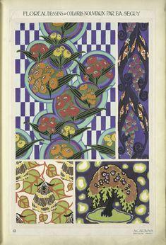 Four Plant Form Designs. (NYPL Digital Archives)