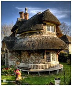 houses, cob hous, stone cottages, dream, alice in wonderland