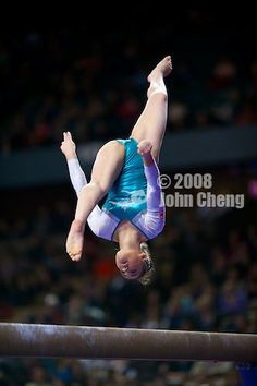 Victoria Moors (Canada) on balance beam at the 2013 American Cup