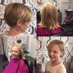 Kids cuts. Adorable pixie cut for this cutie.