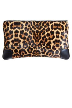 "Christian Louboutin Calf Hair Loubiposh Clutch, $995;  http://www.barneys.com/on/demandware.store/Sites-BNY-Site/default/Product-Show?pid=00505026496641&q=leopard&index=28""target=""new"">barneys.com   - ELLE.com"