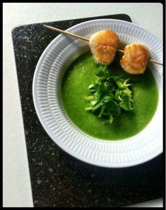 Louisa Lorang: Grøn gazpacho med kammuslinger