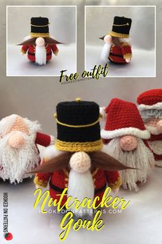 2a06974573605 Free Christmas Nutcracker Gonk Crochet Pattern - Santa Gonk is back just in  time for Christmas