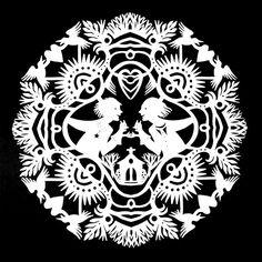 Large Kirigami Mandala