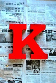 Letter K Print by keesandme Alpha Letter, Letter Art, Alphabet Letters, K Board, Letter Photography, Cool Lettering, Good Buddy, Cartoon Pics, Love Images