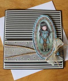 Gorjuss - handmade card, vintage style.