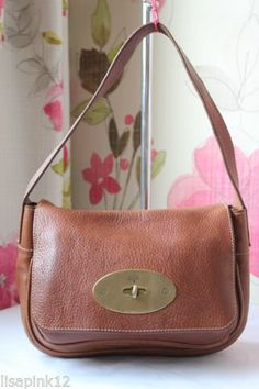 d478408c381 MULBERRY Bayswater Clutch Bag In Oak NVT Leather Bag. Good Condition   eBay