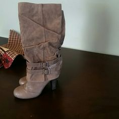 Fergalicious boots Brown boots Fergie Shoes Heeled Boots