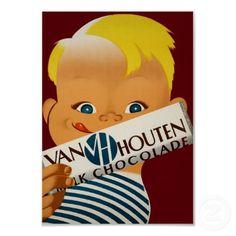 Van Houten's Chocolate ~  Vintage Dutch Ad Posters