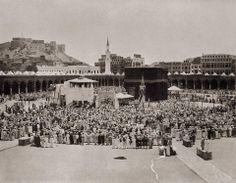 Masjid Al-Haram, #Makkah Saudi Arabia, 1889. Photo credit :- Makkah, Saudi Arabia