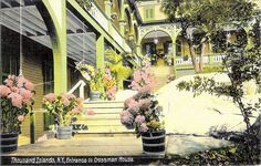 Entrance to the Crossmon House, Alexandria Bay, NY, from an old postcard Alexandria Bay, Thousand Islands, Old Postcards, Entrance, Photo Galleries, Road Trip, River, Explore, Places