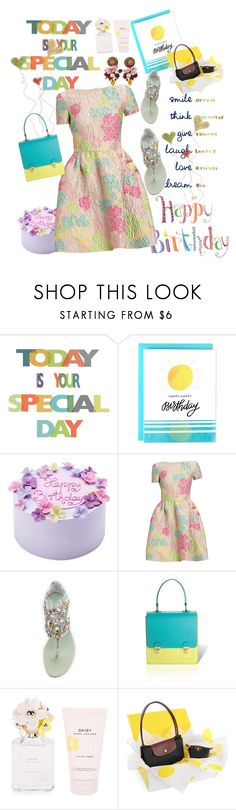 """Happy Birthday!!!!!"" by swtcarma ❤ liked on Polyvore featuring René Caovilla, Jurekka, Marc Jacobs, Longchamp, Dolce&Gabbana, contest and bday"