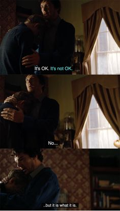 And then Watson apologised to Sherlock. Sherlock forgave him and hugged him a little bit.