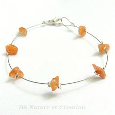 Silver bracelet sunstone handmade gemstone by DSNatureetCreation https://www.etsy.com/listing/232092356/silver-bracelet-sunstone-handmade