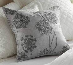 Starburst Embroidered Linen Pillow Cover #potterybarn
