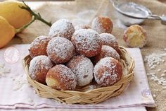 FRITTELLE RISO DOLCI Beignets, Pancakes, Italian Cookies, Cannoli, Galette, Something Sweet, Vegan Gluten Free, Italian Recipes, Donuts