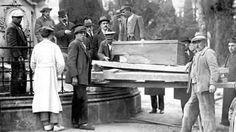 Cementerio de San Isidro en 1919. Traslado de los restos de Goya.