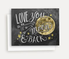 """- Blank inside - Size 4.25"""" x 5.5"""" (folded) - White A2 envelope included - Packaged with the envelope in a clear cellophane sleeve - Each design is hand-lettered on a chalkboard surface, digitally con"""
