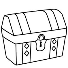 this treasure chest coloring page features a picture of a pirate treasure chest to color the coloring page is printable and can be used in the classroom or - Open Treasure Chest Coloring Page