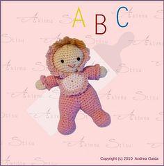 #crochet, free pattern, Ravelry, amigurumi, baby, doll, stuffed toy, #haken, gratis patroon (Engels), knuffel, speelgoed, haakpatroon