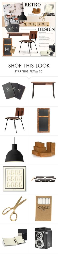 """""""Retro School Design"""" by anna-anica ❤ liked on Polyvore featuring interior, interiors, interior design, home, home decor, interior decorating, Red Clouds Collective, Matthew Hilton, Gus* Modern and Dot & Bo"""