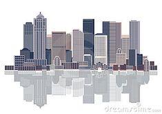 Cityscape background, urban art, vector illustration