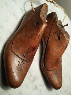 Victorian Pair Wooden Antique Children s Cobblers Shoe Lasts Child Shoe Moulds