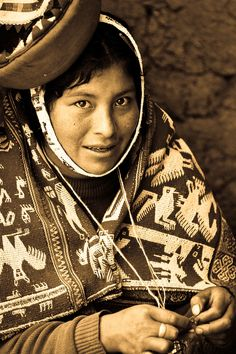 Knitting in Peru