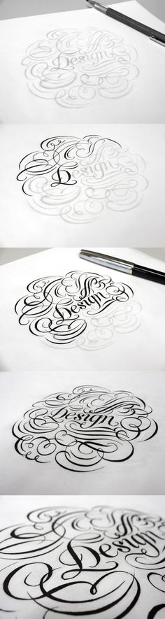 Hand Lettering 3 by Anh vu, via Behance comment this
