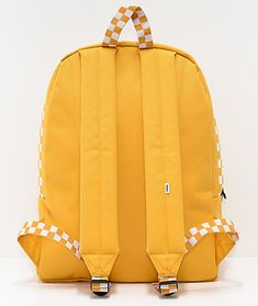 98e6c36db4 Vans Sporty Realm Yellow Checkerboard Backpack