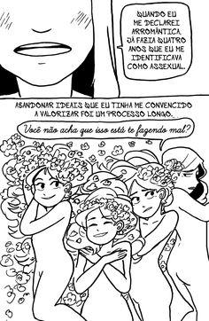 Arromantico Assexual descobrimento p.03 Ilustrações de Kotaline Jones