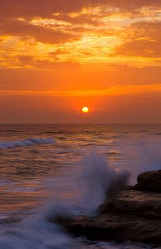 Sunset in Carlsbad by CityofCarlsbad, via Flickr