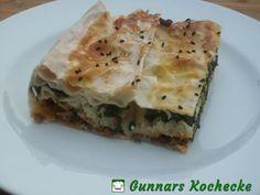Börek vom Blech mit Hackfleisch, Spinat und Feta