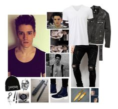 """""""Ootd : Lakyn"""" by believe-in-you-always ❤ liked on Polyvore featuring Vance Co., Old Navy, Sik Silk, Dr. Martens, McQ by Alexander McQueen, Uniqlo, men's fashion and menswear"""