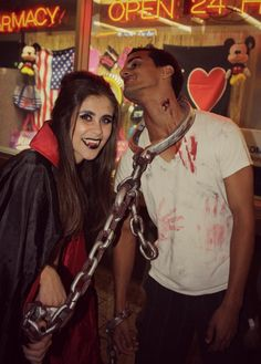 Couples Costume Idea: Vampire and her slave
