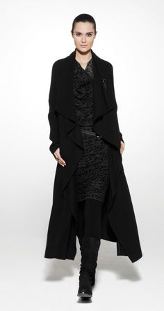 sarah pacini.   Nothing makes a statement like a long coat.