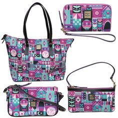 """It has been a while since a Disney Dooney & Bourke design has made my heart skip a beat, but they have finally done it again with this new """"it's a small world"""" collection. It's hard not to love the amazing artwork and designs inspired by Mary Blair, but the color palette and artwork is …"""