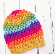 [Free Pattern] How To Easily Use Your Scraps To Make A Wonderful Puff Stitch Toddler Beanie - http://www.dailycrochet.com/free-pattern-how-to-easily-use-your-scraps-to-make-a-wonderful-puff-stitch-toddler-beanie/