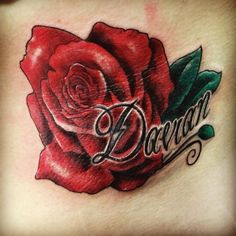 I wanted a rose with my sons name... My tattoo artist nailed it!!